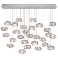 Fine Art Lamps Natural Inspirations 28 Light Drop Light in Platinized Silver Leaf 853640-11ST