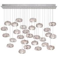 Fine Art Lamps 853640-11ST Natural Inspirations 28 Light 17 inch Silver Pendant Ceiling Light