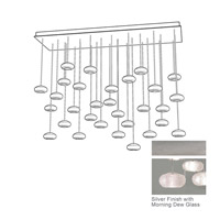Fine Art Lamps Natural Inspirations 28 Light Drop Light in Platinized Silver Leaf 853640-12ST