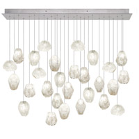 Natural Inspirations 28 Light 17 inch Silver Leaf Drop Light Ceiling Light