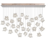 Natural Inspirations 28 Light 17 inch Gold Toned Silver Leaf Pendant Ceiling Light