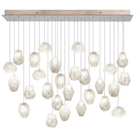 Fine Art Lamps Natural Inspirations 28 Light Drop Light in Gold-Toned Silver Leaf 853640-23ST