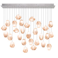 Natural Inspirations 28 Light 17 inch Gold-Toned Silver Leaf Drop Light Ceiling Light