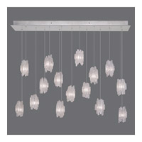 Natural Inspirations 15 Light 11 inch Platinized Silver Leaf Pendant Ceiling Light
