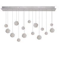 Natural Inspirations 15 Light 48 inch Silver Leaf Drop Light Ceiling Light