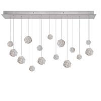 Fine Art Lamps 853740-105ST Natural Inspirations 15 Light 48 inch Silver Drop Light Ceiling Light