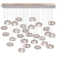 Fine Art Lamps Natural Inspirations 15 Light Drop Light in Platinized Silver Leaf 853740-11ST