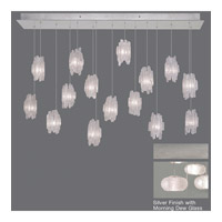 Fine Art Lamps Natural Inspirations 15 Light Drop Light in Platinized Silver Leaf 853740-12ST