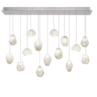 Fine Art Lamps 853740-13ST Natural Inspirations 15 Light 11 inch Silver Leaf Drop Light Ceiling Light