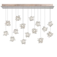 Natural Inspirations 15 Light 11 inch Gold Toned Silver Leaf Pendant Ceiling Light