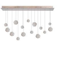Fine Art Lamps 853740-205ST Natural Inspirations 15 Light 48 inch Gold Pendant Ceiling Light