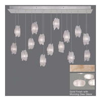 Fine Art Lamps Natural Inspirations 15 Light Drop Light in Gold-Toned Silver Leaf 853740-22ST