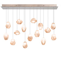 Natural Inspirations 15 Light 11 inch Gold-Toned Silver Leaf Drop Light Ceiling Light
