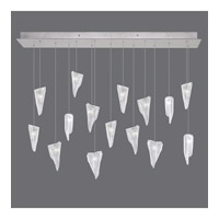 Fine Art Lamps 853740-108ST Natural Inspirations 15 Light 48 inch Silver Drop Light Ceiling Light