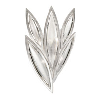 Fine Art Lamps Marquise 4 Light Wall Sconce in Platinized Silver Leaf 854050-11ST