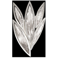 Fine Art Lamps Marquise 4 Light Wall Sconce in Platinized Silver Leaf 854050-12ST