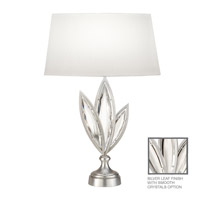 Fine Art Lamps Marquise 1 Light Table Lamp in Platinized Silver Leaf 854410-11ST