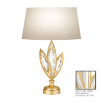 Fine Art Lamps Marquise 1 Light Table Lamp in Florentine Brushed Gold Leaf 854410-21ST