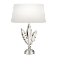 Fine Art Lamps Marquise 1 Light Table Lamp in Platinized Silver Leaf 854610-11ST