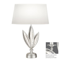 Fine Art Lamps Marquise 1 Light Table Lamp in Platinized Silver Leaf 854610-12ST