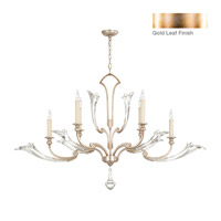 Fine Art Lamps Ice Sculpture 6 Light Chandelier in Gold Leaf 855040-2ST