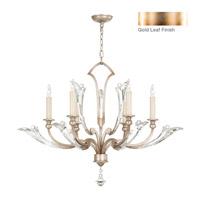 Fine Art Lamps Ice Sculpture 6 Light Chandelier in Gold Leaf 855340-2ST