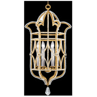 Prussian Neoclassic 6 Light 19 inch Brandenburg Gold Leaf Hanging Lantern Ceiling Light