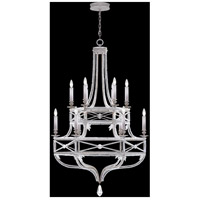 Fine Art Lamps Prussian Neoclassic 12 Light Chandelier in  Prussian Silver Gray 857640-12ST