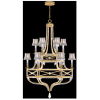 Fine Art Lamps Prussian Neoclassic 12 Light Chandelier in Brandenburg Gold Leaf 857640-21ST