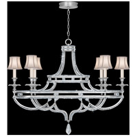 Prussian Neoclassic 6 Light 24 inch Prussian Silver Gray Chandelier Ceiling Light