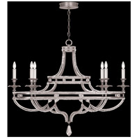 Prussian Neoclassic 6 Light 22 inch Silver Chandelier Ceiling Light