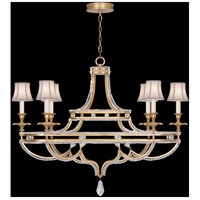 Fine Art Lamps Prussian Neoclassic 6 Light Chandelier in Brandenburg Gold Leaf 857840-21ST