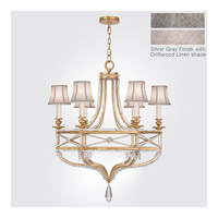 Prussian Neoclassic 6 Light 31 inch Prussian Silver Gray Chandelier Ceiling Light