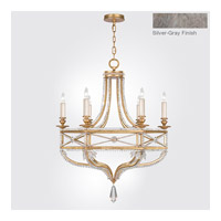 Fine Art Lamps Prussian Neoclassic 6 Light Chandelier in  Prussian Silver Gray 858040-12ST