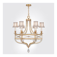 Fine Art Lamps Prussian Neoclassic 6 Light Chandelier in Brandenburg Gold Leaf 858040-21ST