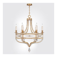 Fine Art Lamps Prussian Neoclassic 6 Light Chandelier in Brandenburg Gold Leaf 858040-22ST