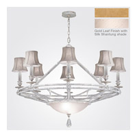 Fine Art Lamps Prussian Neoclassic 8 Light Chandelier in Brandenburg Gold Leaf 858840-21ST