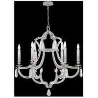 Fine Art Lamps Prussian Neoclassic 6 Light Chandelier in  Prussian Silver Gray 859040-12ST