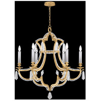 Fine Art Lamps Prussian Neoclassic 6 Light Chandelier in Brandenburg Gold Leaf 859040-22ST