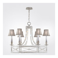 Fine Art Lamps 859240-11ST Prussian Neoclassic 6 Light 31 inch Prussian Silver Gray Chandelier Ceiling Light