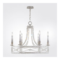 Fine Art Lamps 859240-12ST Prussian Neoclassic 6 Light 29 inch Prussian Silver Gray Chandelier Ceiling Light