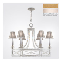 Fine Art Lamps Prussian Neoclassic 6 Light Chandelier in Brandenburg Gold Leaf 859240-21ST