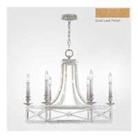Fine Art Lamps Prussian Neoclassic 6 Light Chandelier in Brandenburg Gold Leaf 859240-22ST