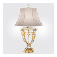 Prussian Neoclassic 34 inch 150 watt Brandenburg Gold Leaf Table Lamp Portable Light