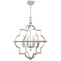 Liaison 8 Light 30 inch Platinized Silver Leaf Pendant Ceiling Light