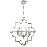 Fine Art Lamps 860040-2ST Liaison 8 Light 30 inch Silver Pendant Ceiling Light
