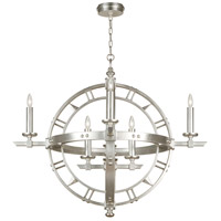 Liaison 8 Light 37 inch Platinized Silver Leaf Pendant Ceiling Light