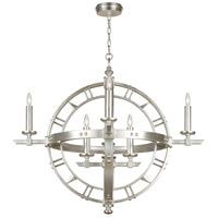 Fine Art Lamps 860140-2ST Liaison 8 Light 37 inch Silver Pendant Ceiling Light