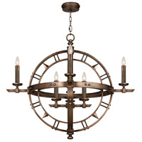 Liaison 8 Light 37 inch Antique Hand-Rubbed Bronze Pendant Ceiling Light