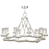 Fine Art Lamps Liaison 8 Light Chandelier in Platinized Silver Leaf 860340-2ST
